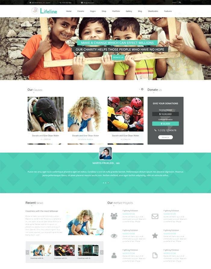 Ngo Website Template Wordpress