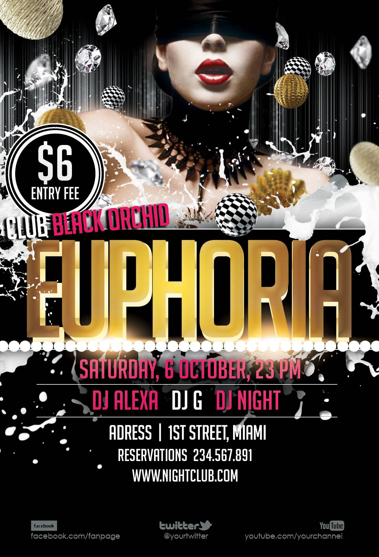 Nightclub Flyer Psd Template Free