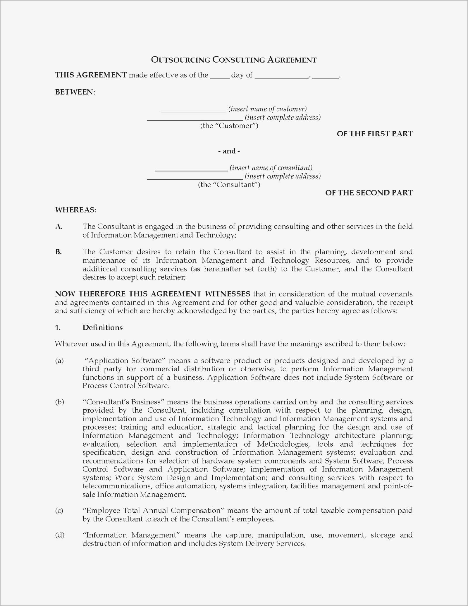 Non Binding Contract Template