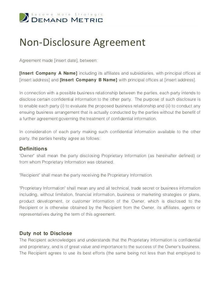 Non Disclosurenon Usenon Circumvention Agreement China Template