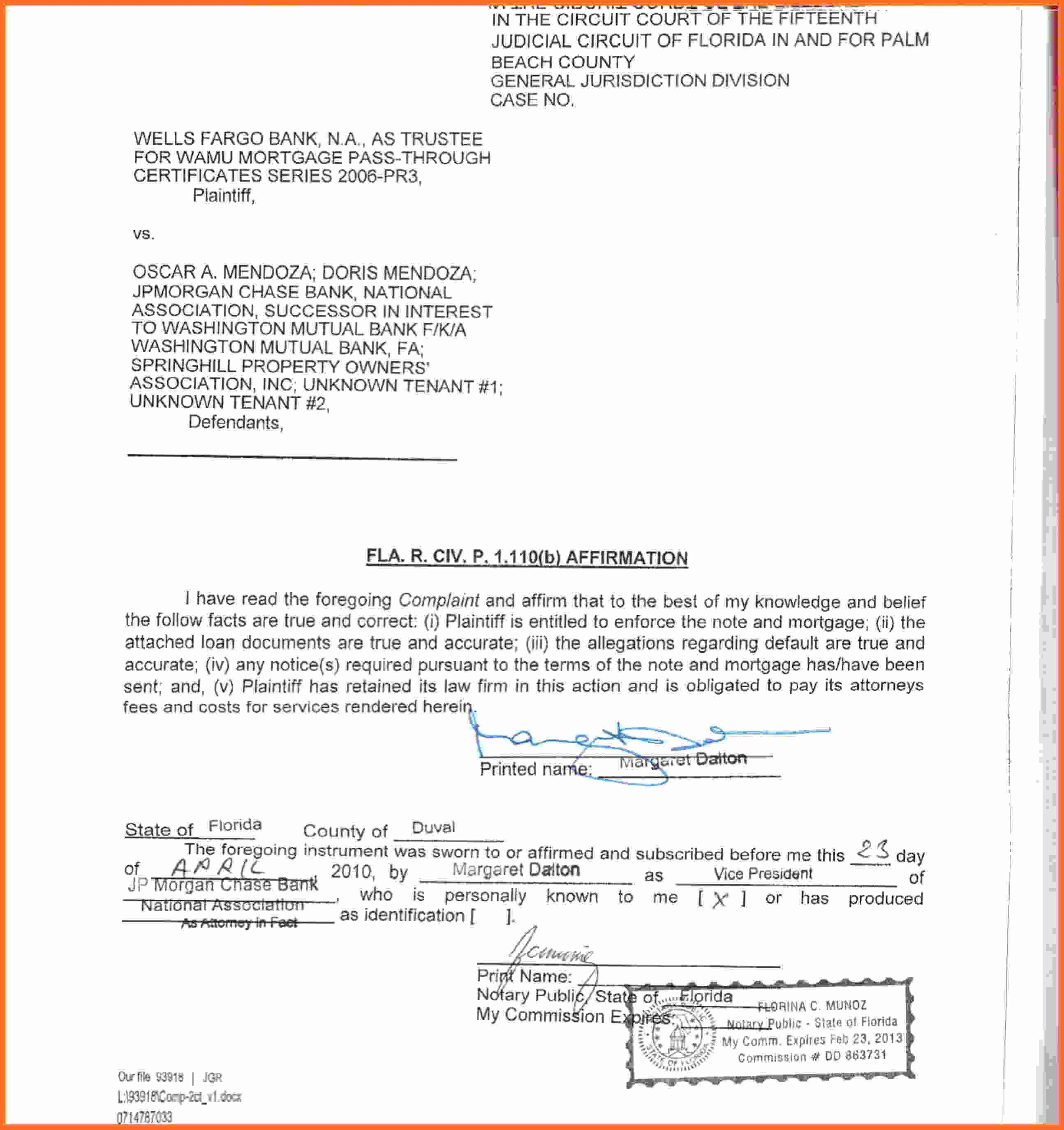 Notary Document Template