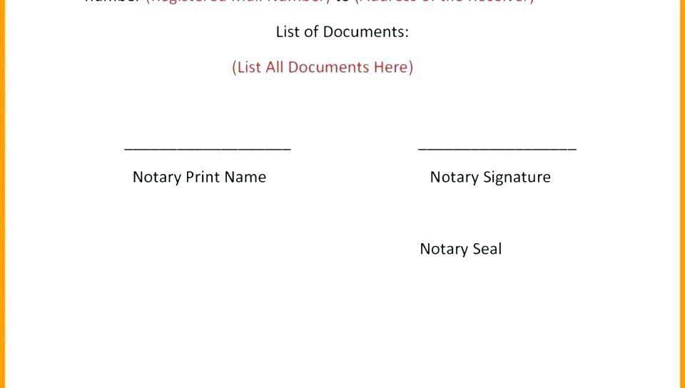 Notary Public Language