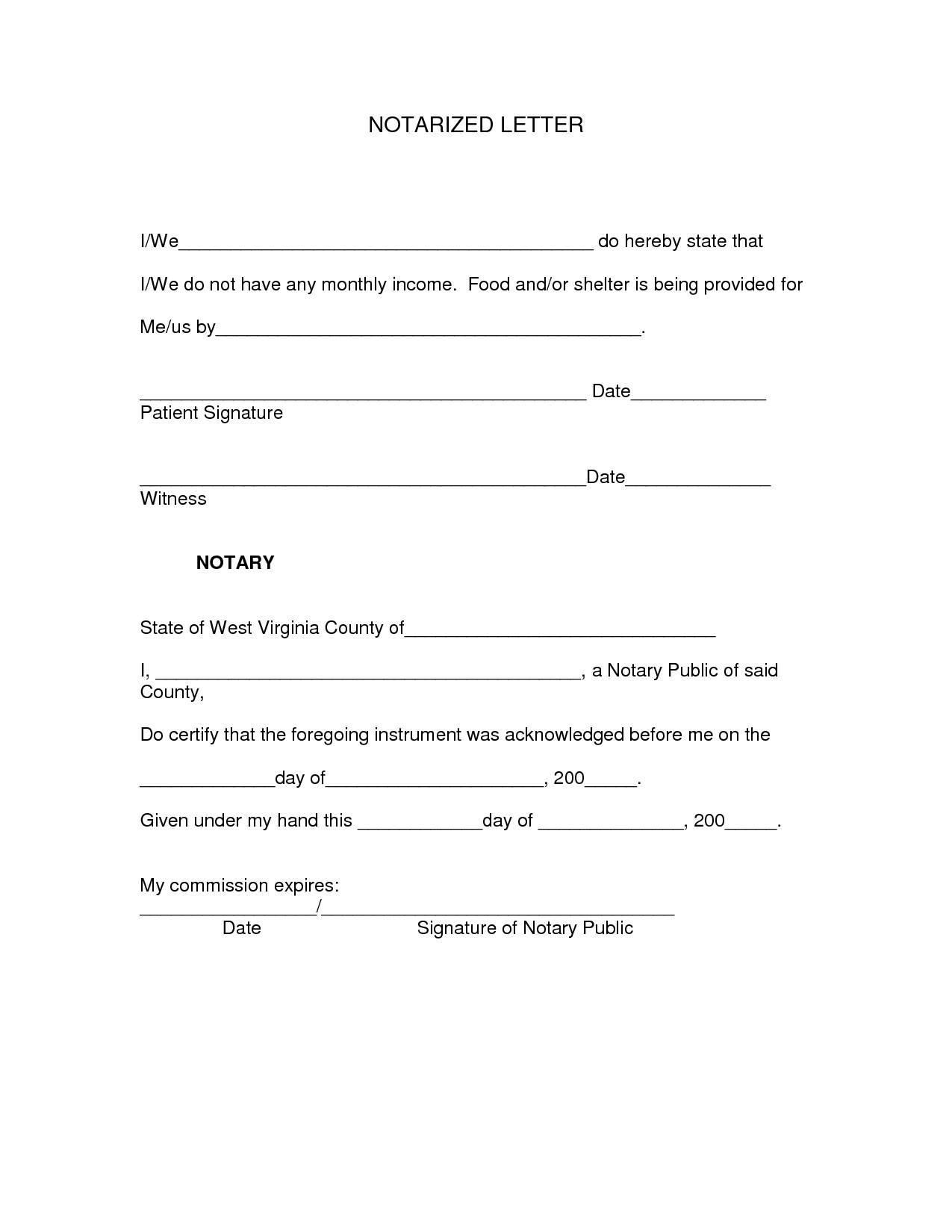 Notary Public Template Florida