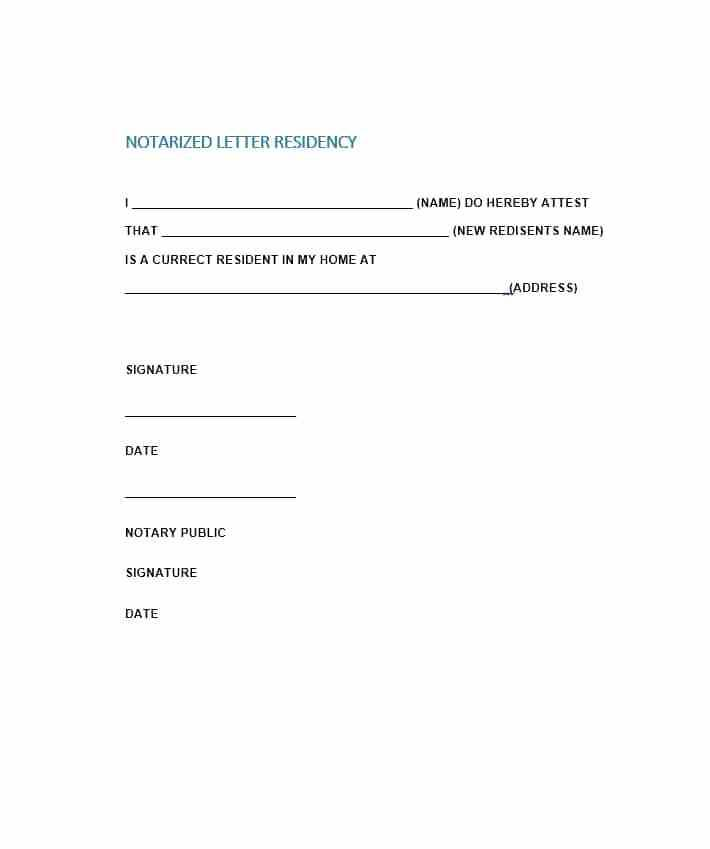 Notary Template For Affidavit