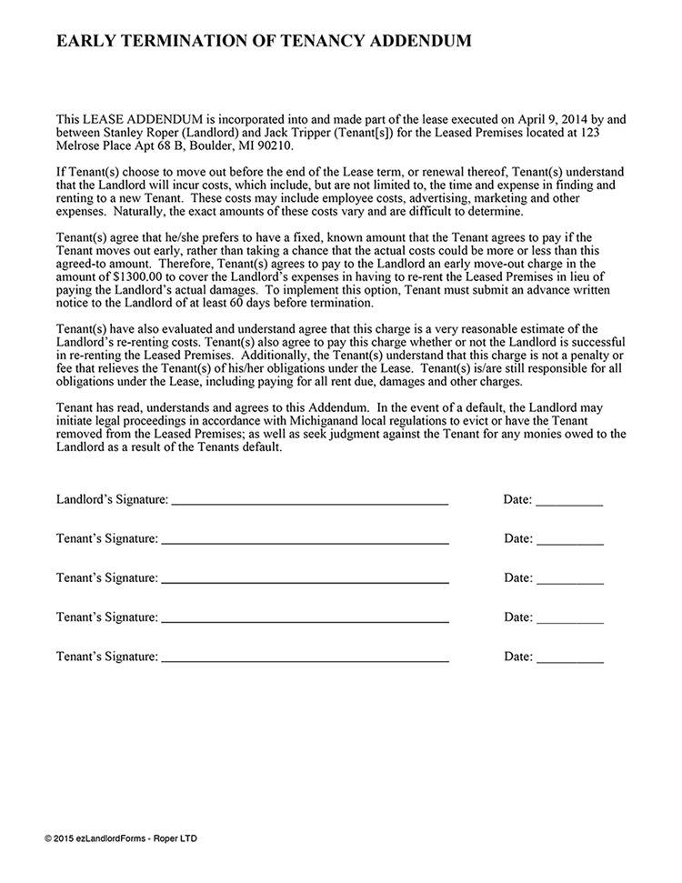 Notice Of Termination Of Lease Agreement Template South Africa