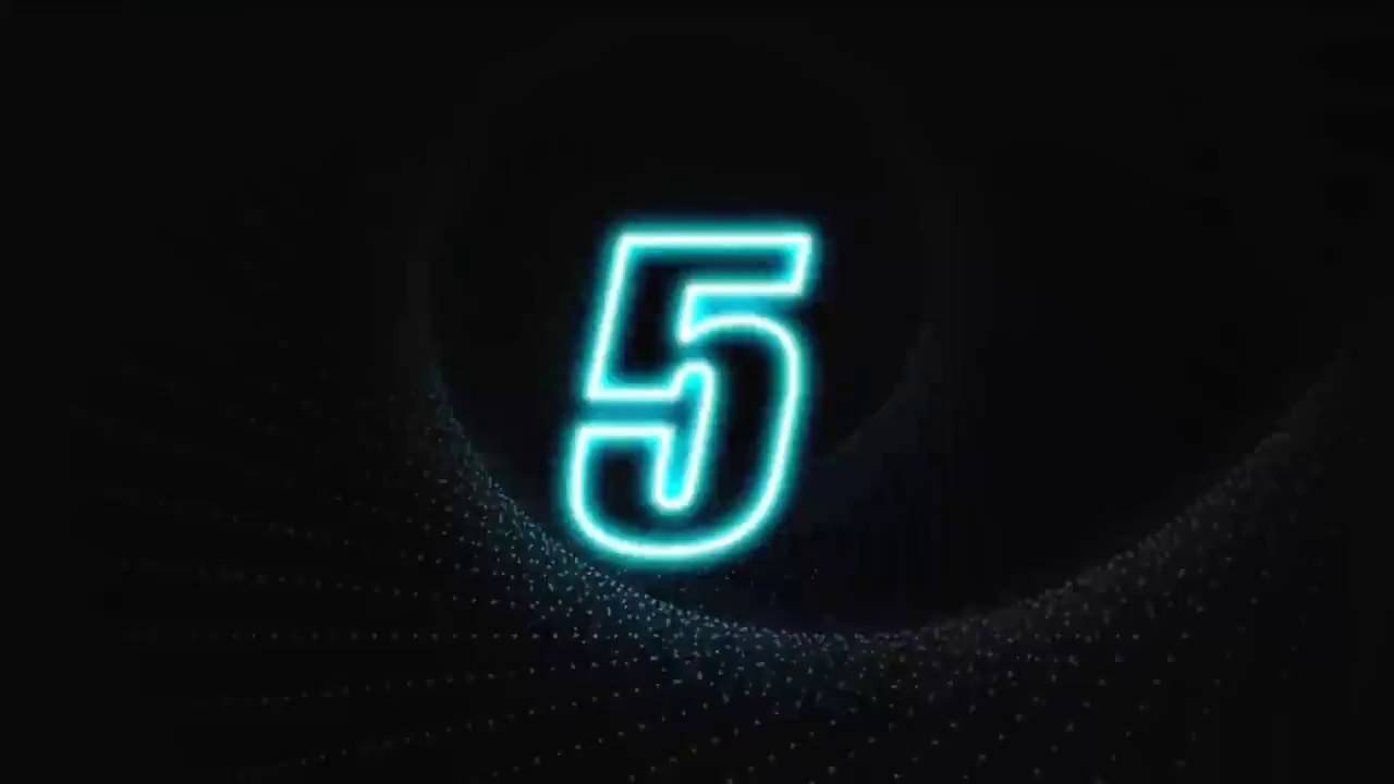 Number Countdown After Effects Template
