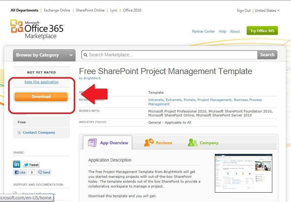 Office 365 Sharepoint Project Management Template