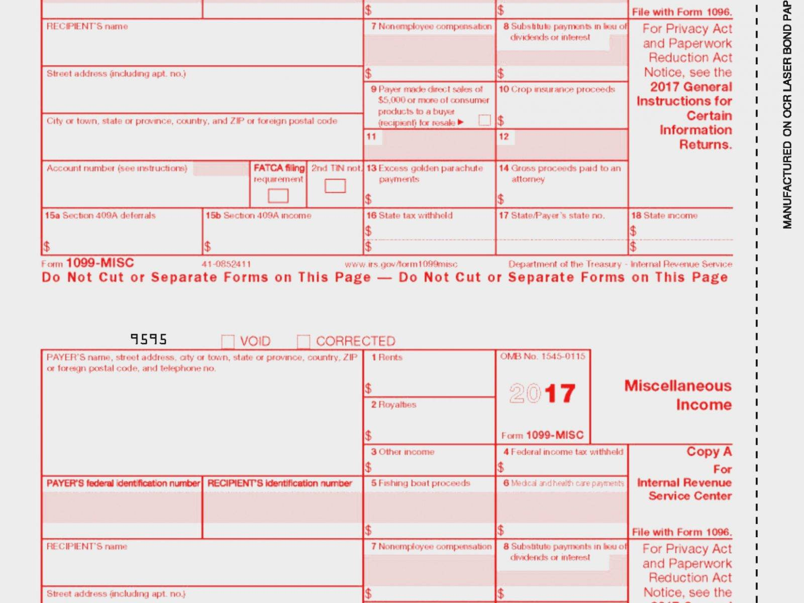Office Depot 1099 Form Template