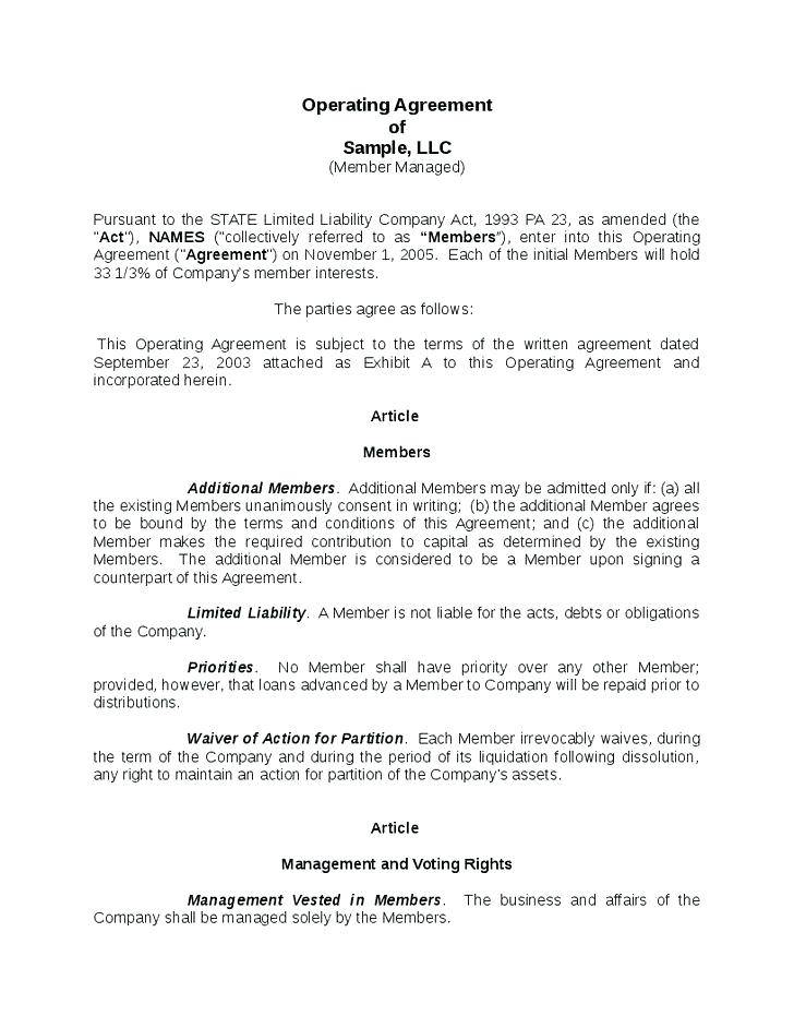 Ohio Llc Articles Of Organization Template