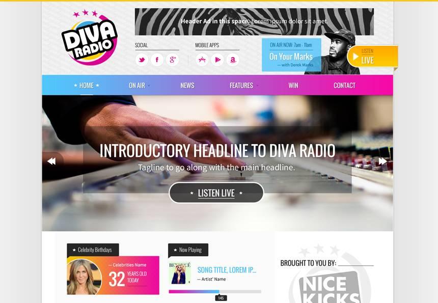 Online Radio Station Website Template