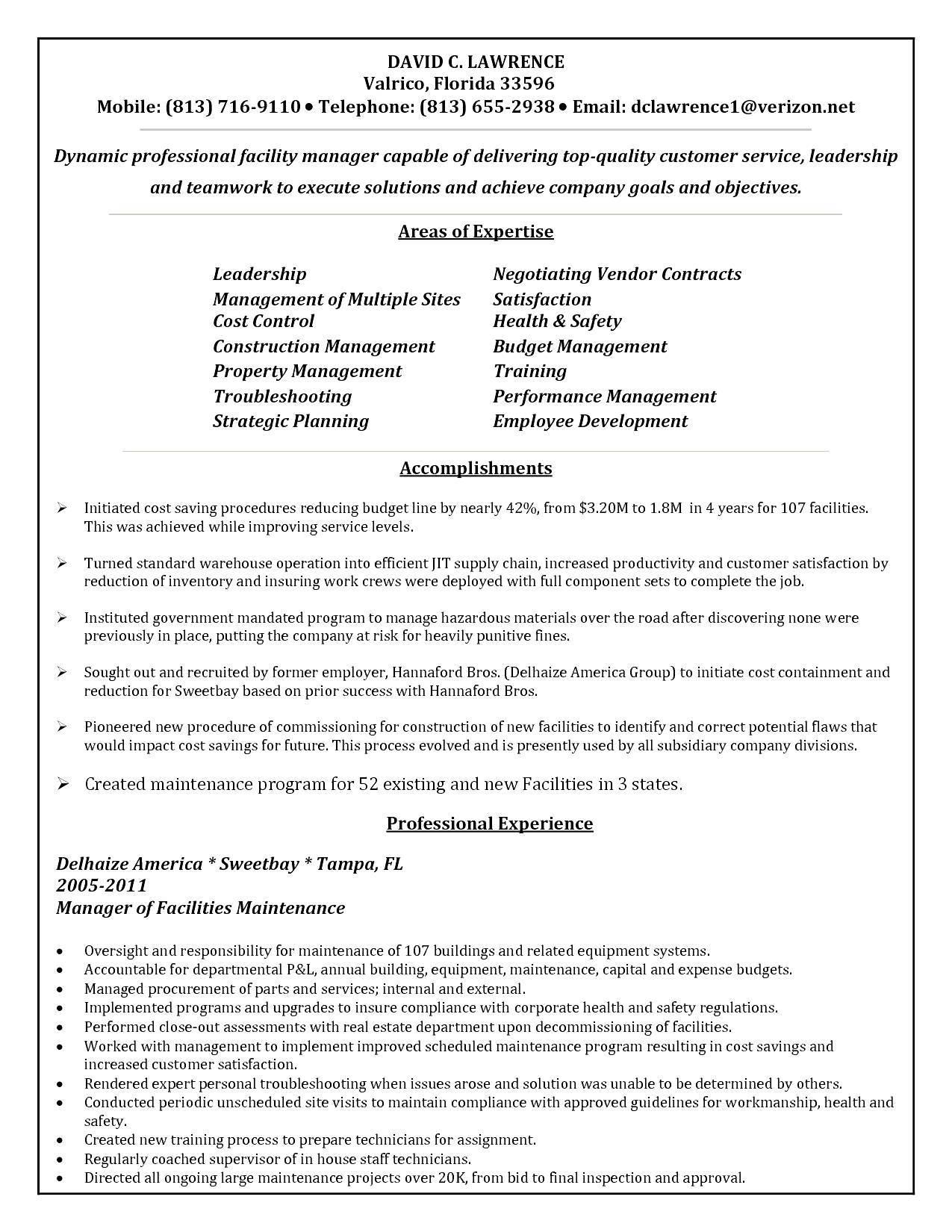 Operations Supervisor Resume Templates - Templates #112850 ...