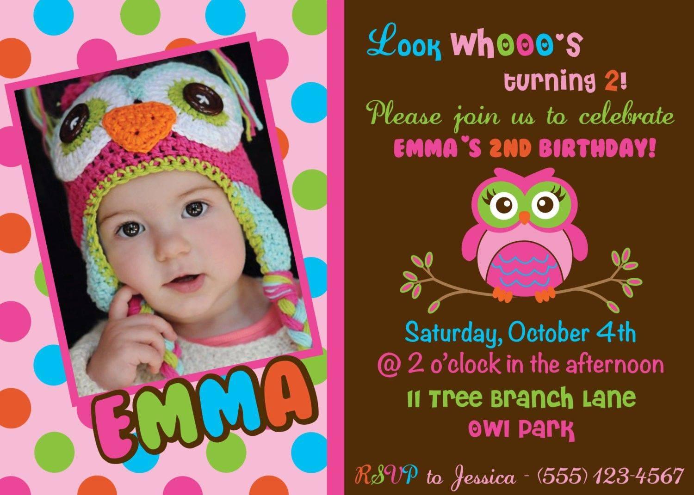 Owl Birthday Party Invitation Template Free