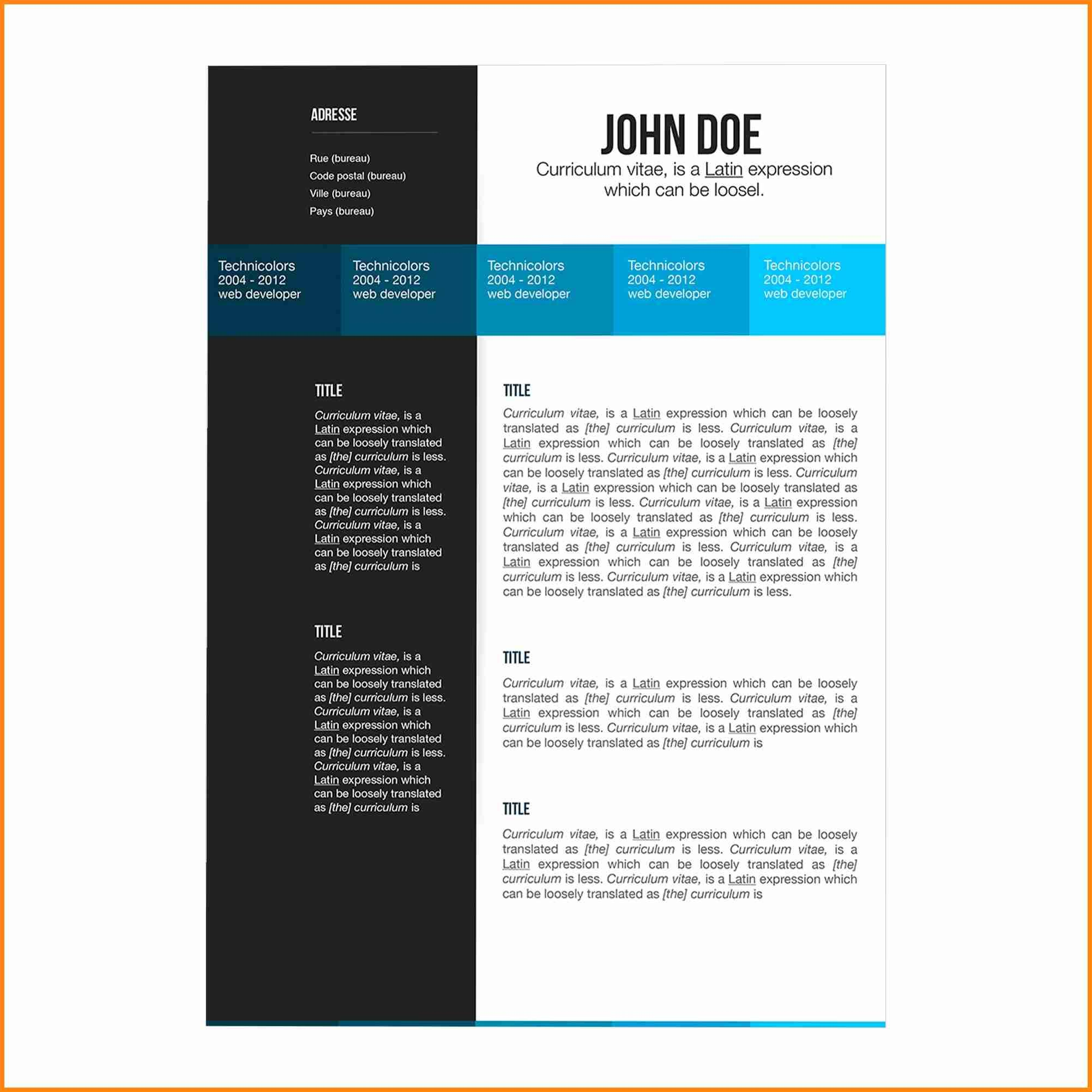 Pages Resume Templates 2017 Free