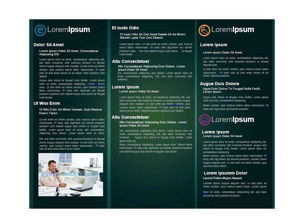 Pamphlet Design Template Free Download