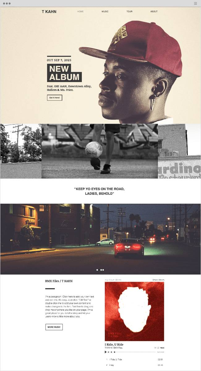 Parallax Website Template Wix
