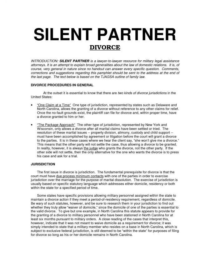 Partner Dissolution Agreement Template