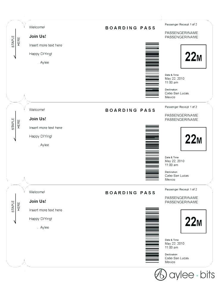 Passport Invitation Template Indesign