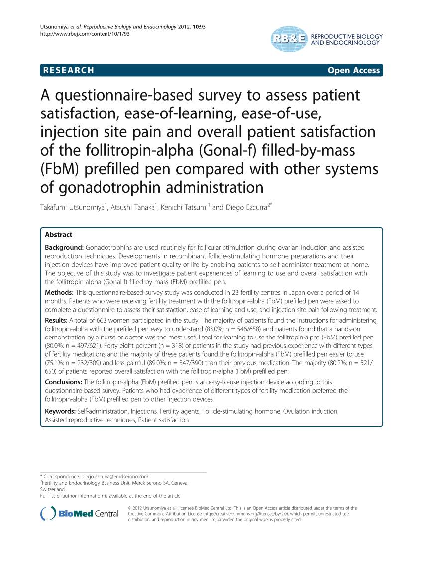 Patient Satisfaction Survey Questionnaire Pdf