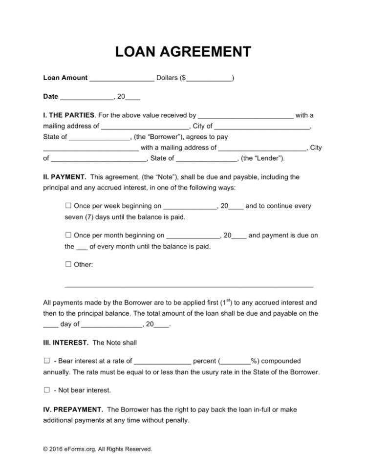 Personal Loan Agreement Template Between Friends Uk