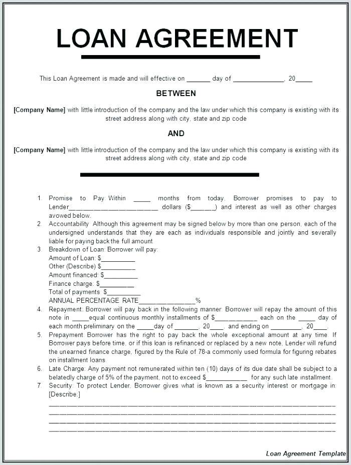 Personal Loan Guarantee Template
