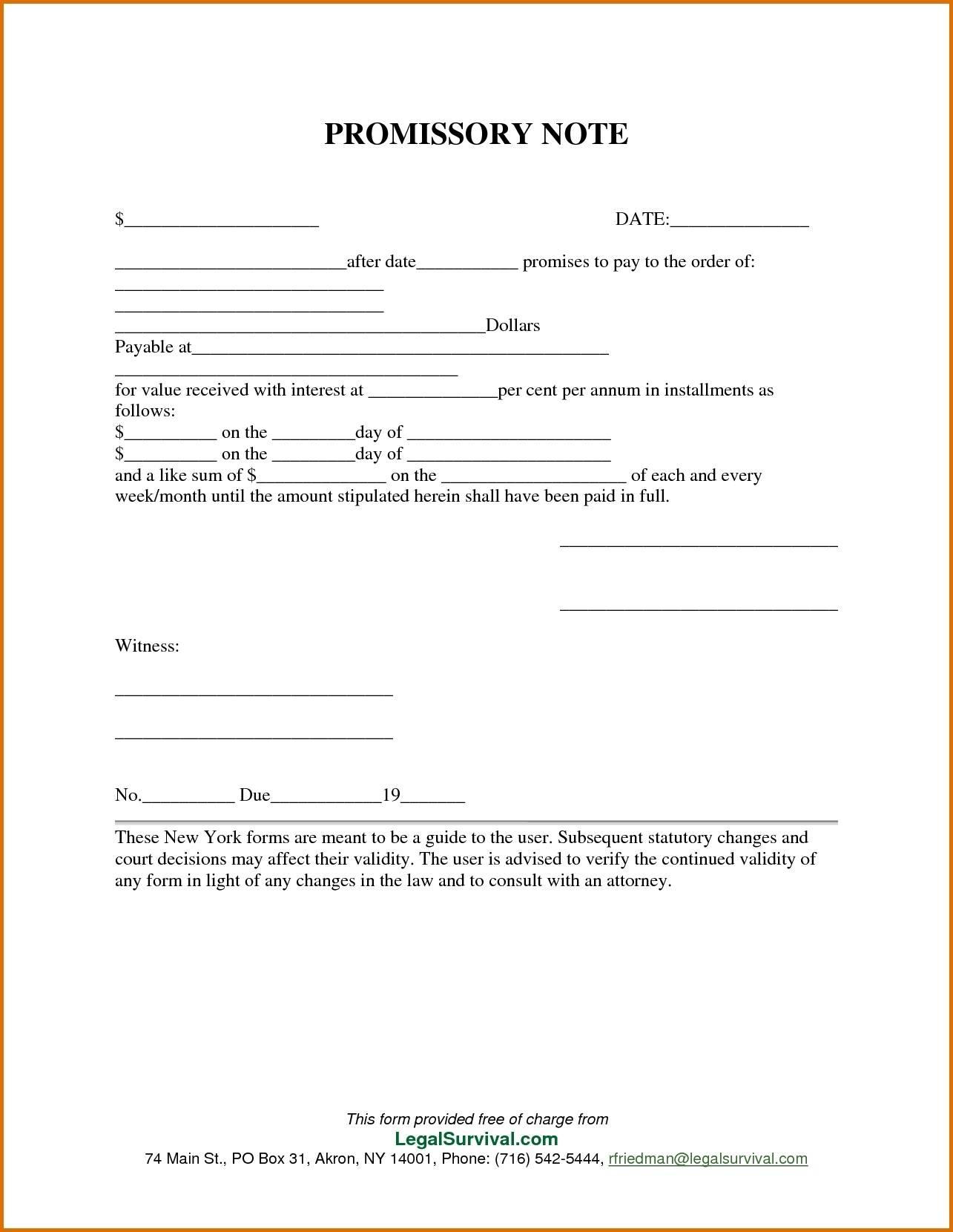 Personal Loan Promissory Note Template Free