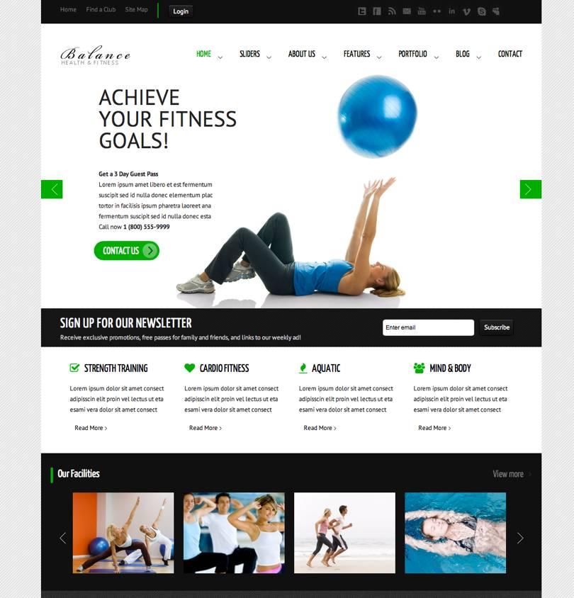 Personal Trainer Website Template Wordpress