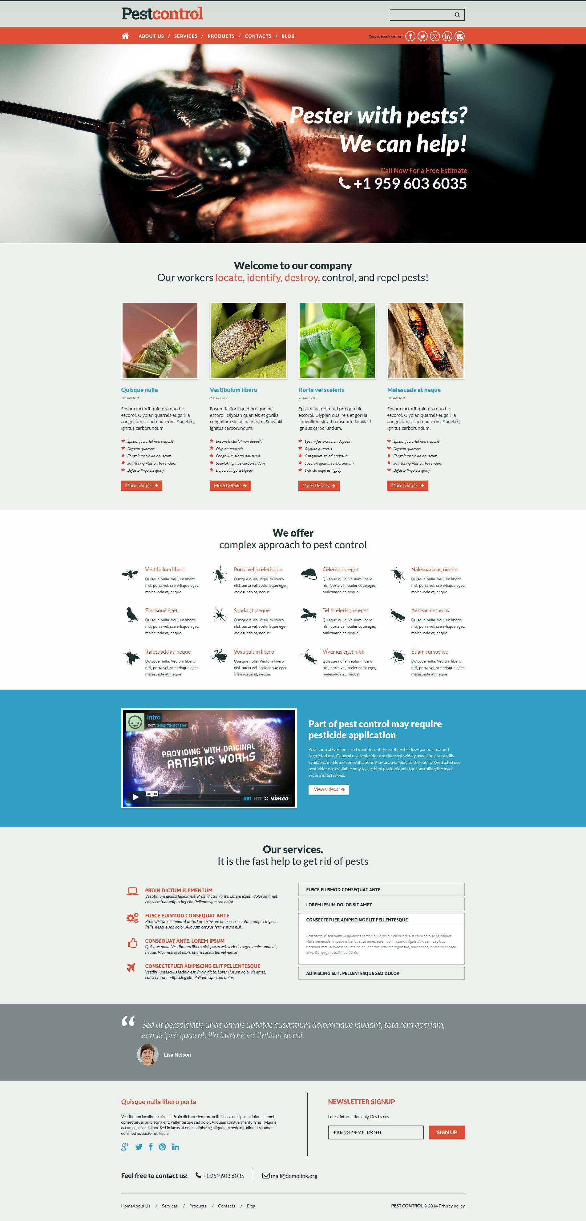Pest Control Website Template
