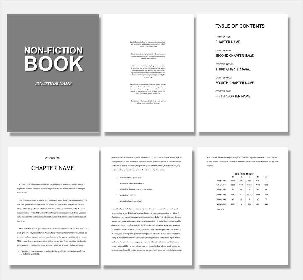 Photo Book Layout Templates