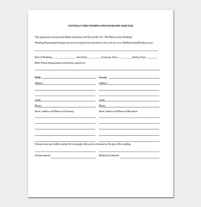 Photography Contract Doc