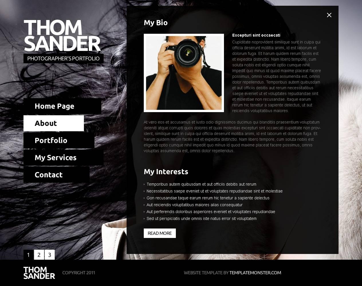 Photography Website Templates Dreamweaver Free