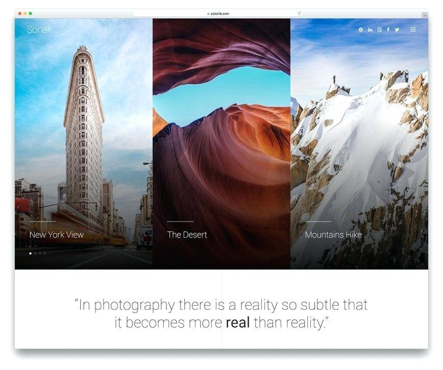 Photography Website Templates Free Download Bootstrap