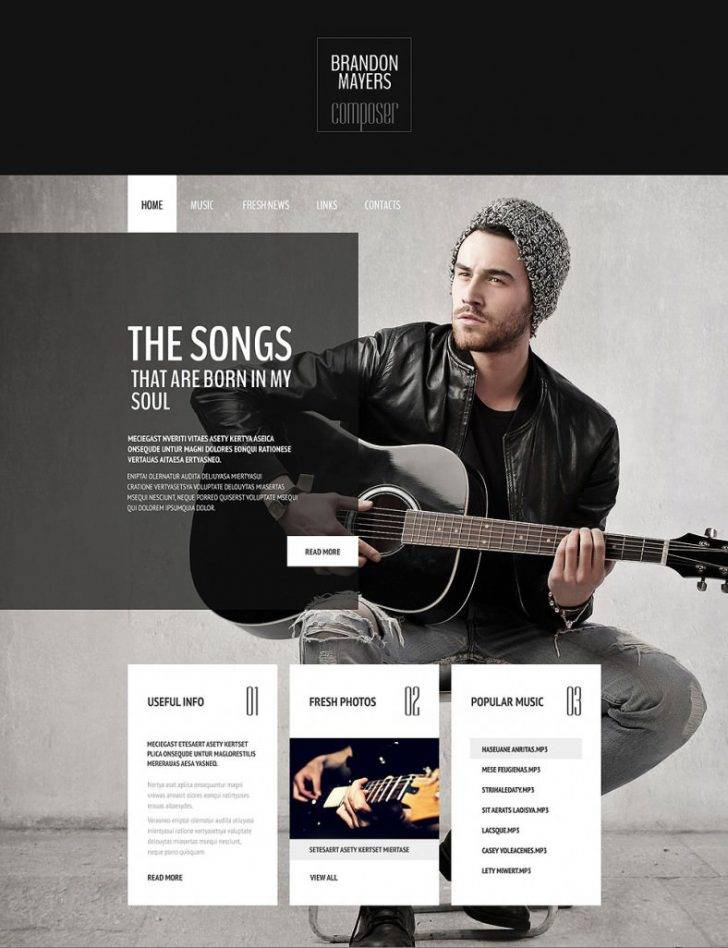 Photography Website Templates Psd Free Download