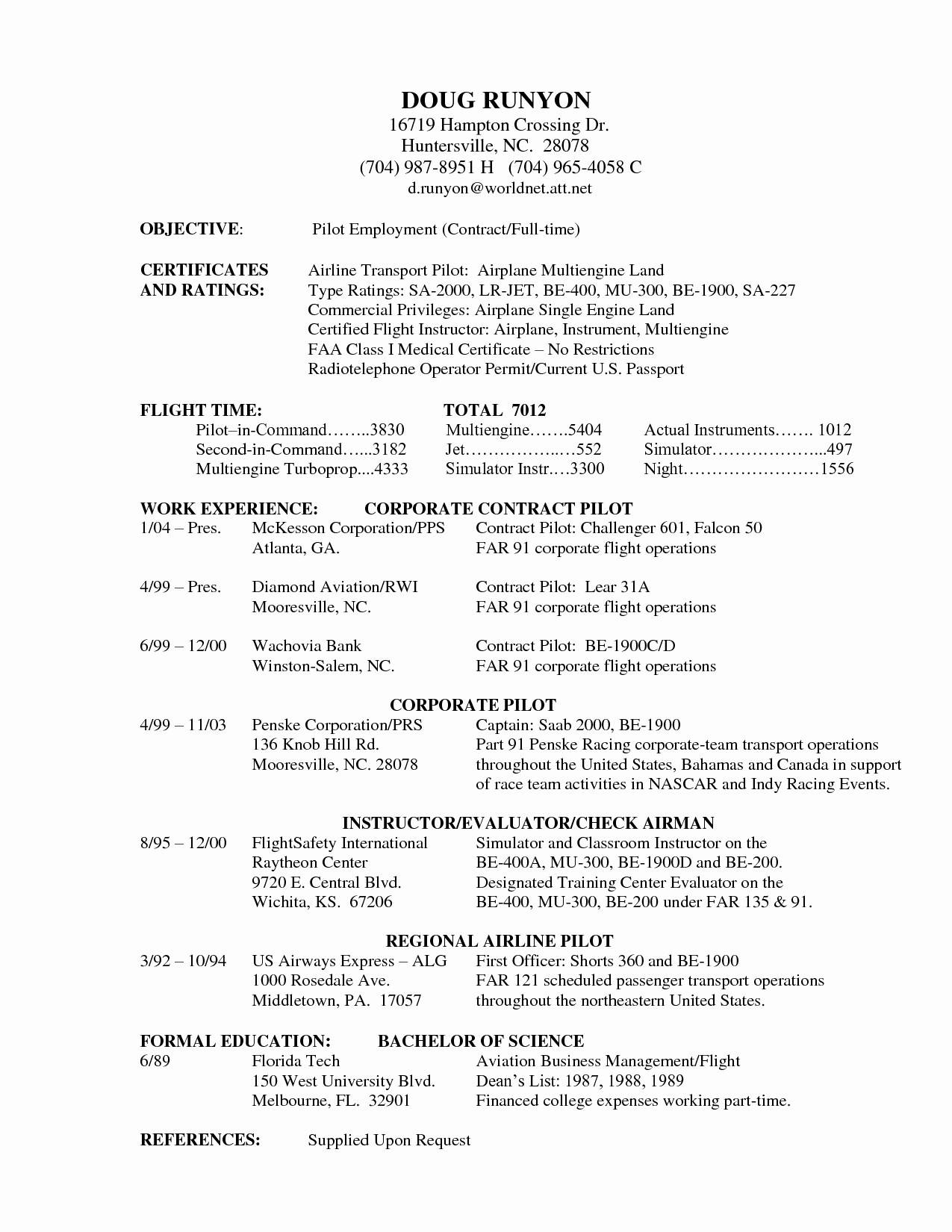 Military Pilot Resume Template - Templates #OTU0Njk | Resume ...