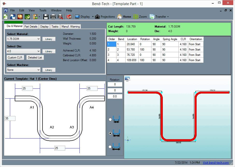 Pipe Cutting Template Program