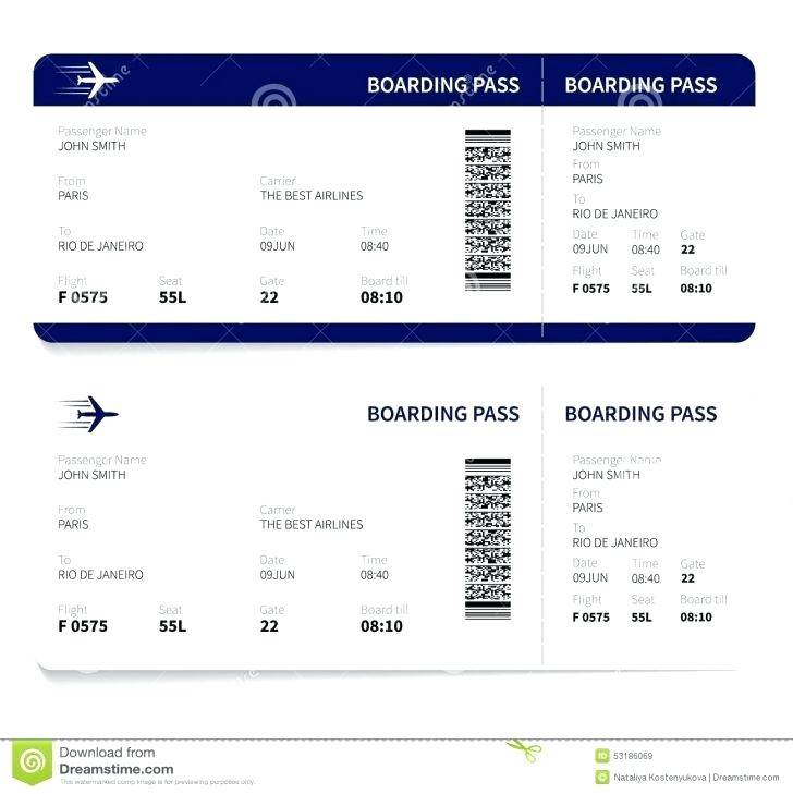 Plane Ticket Invite Template