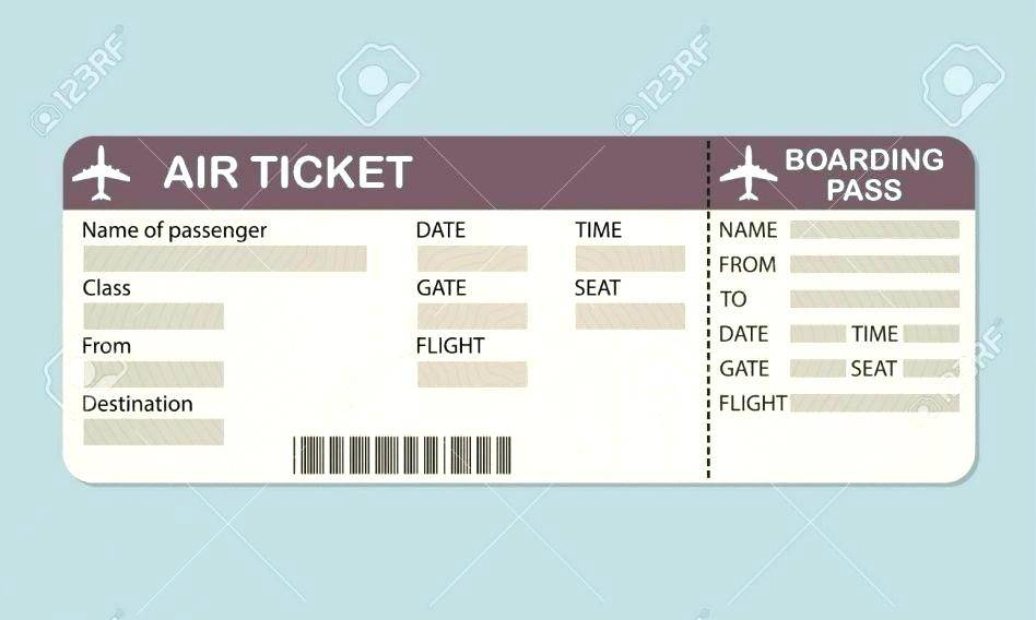 Plane Ticket Sample Template