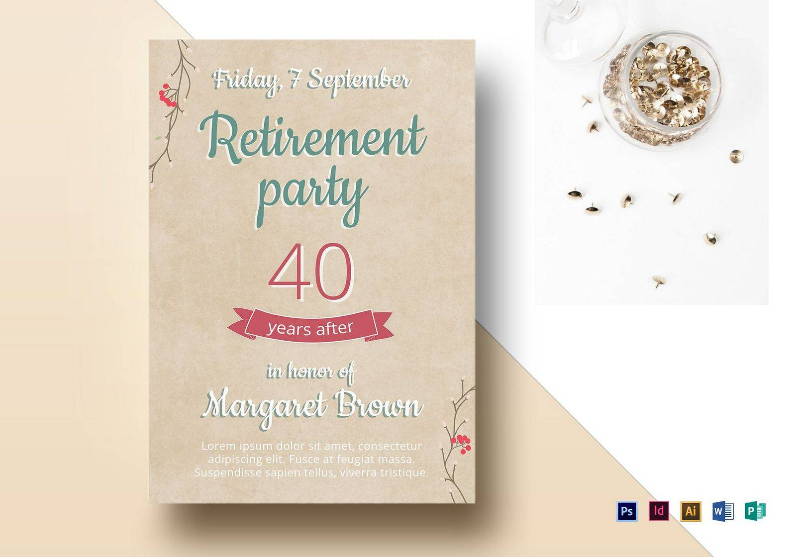 Police Retirement Flyer Template