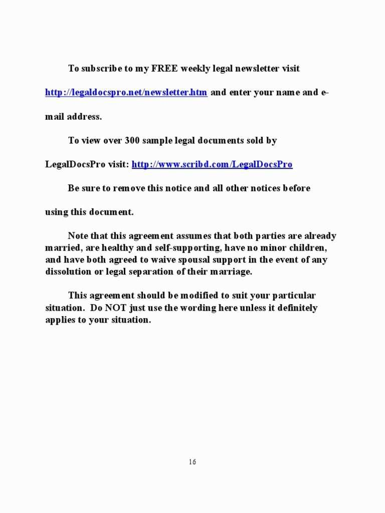 Postnuptial Agreement Ny Template