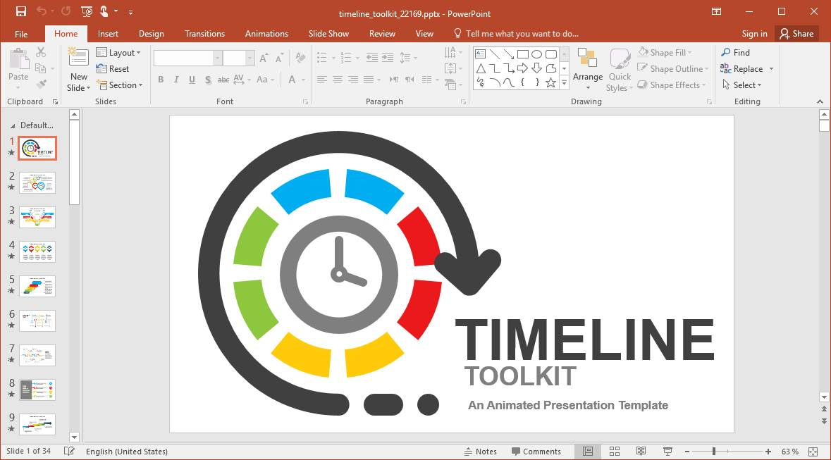 Powerpoint Schedule Timeline Template