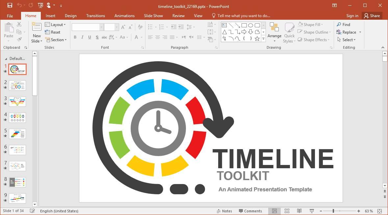 Powerpoint Schedule Timeline Template