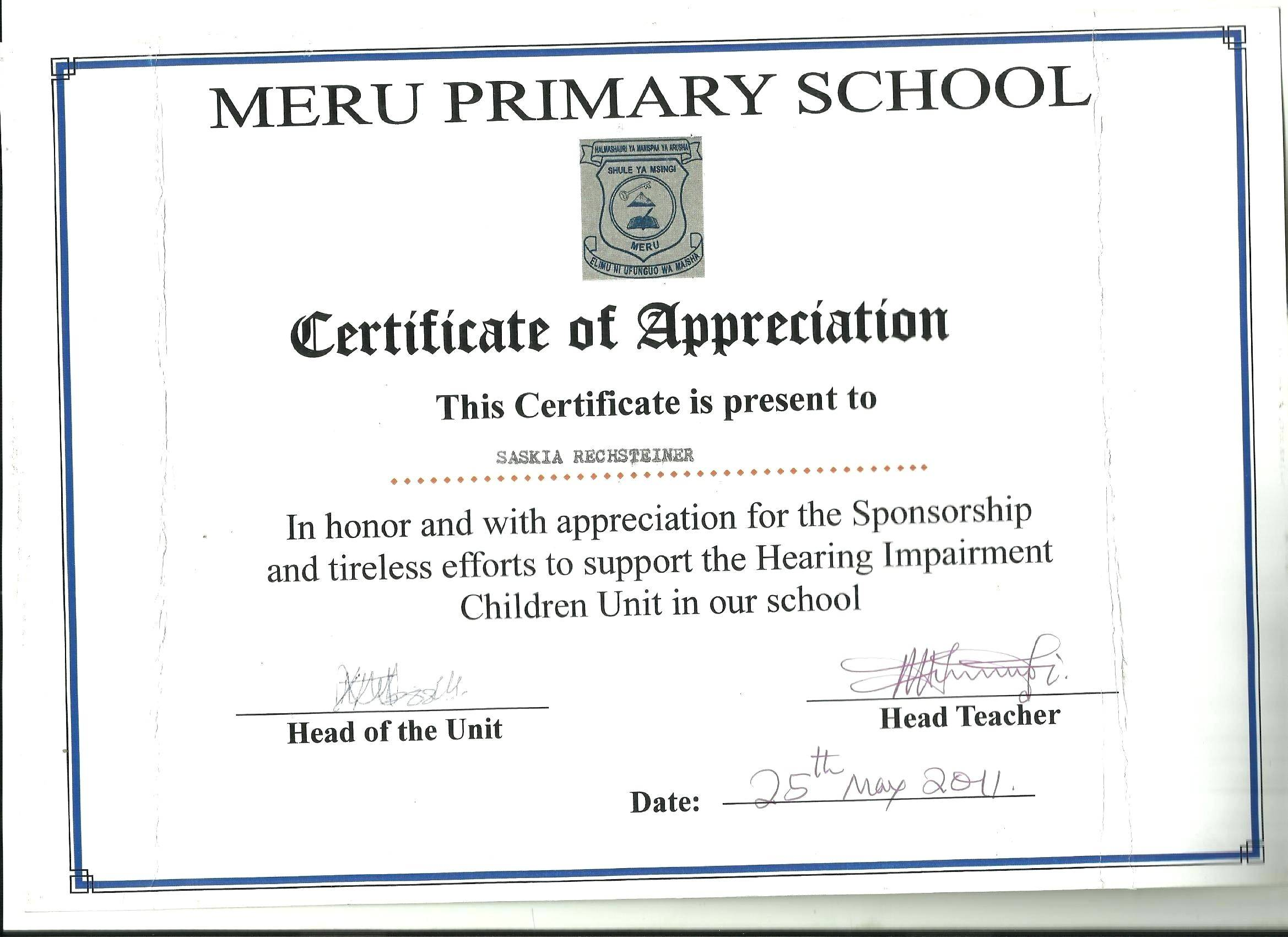 Powerpoint Template For Certificate Of Appreciation