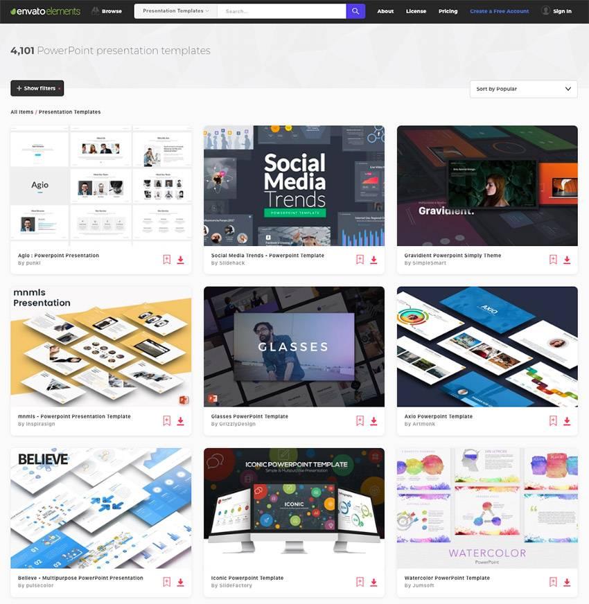 Ppt Slide Templates Designs