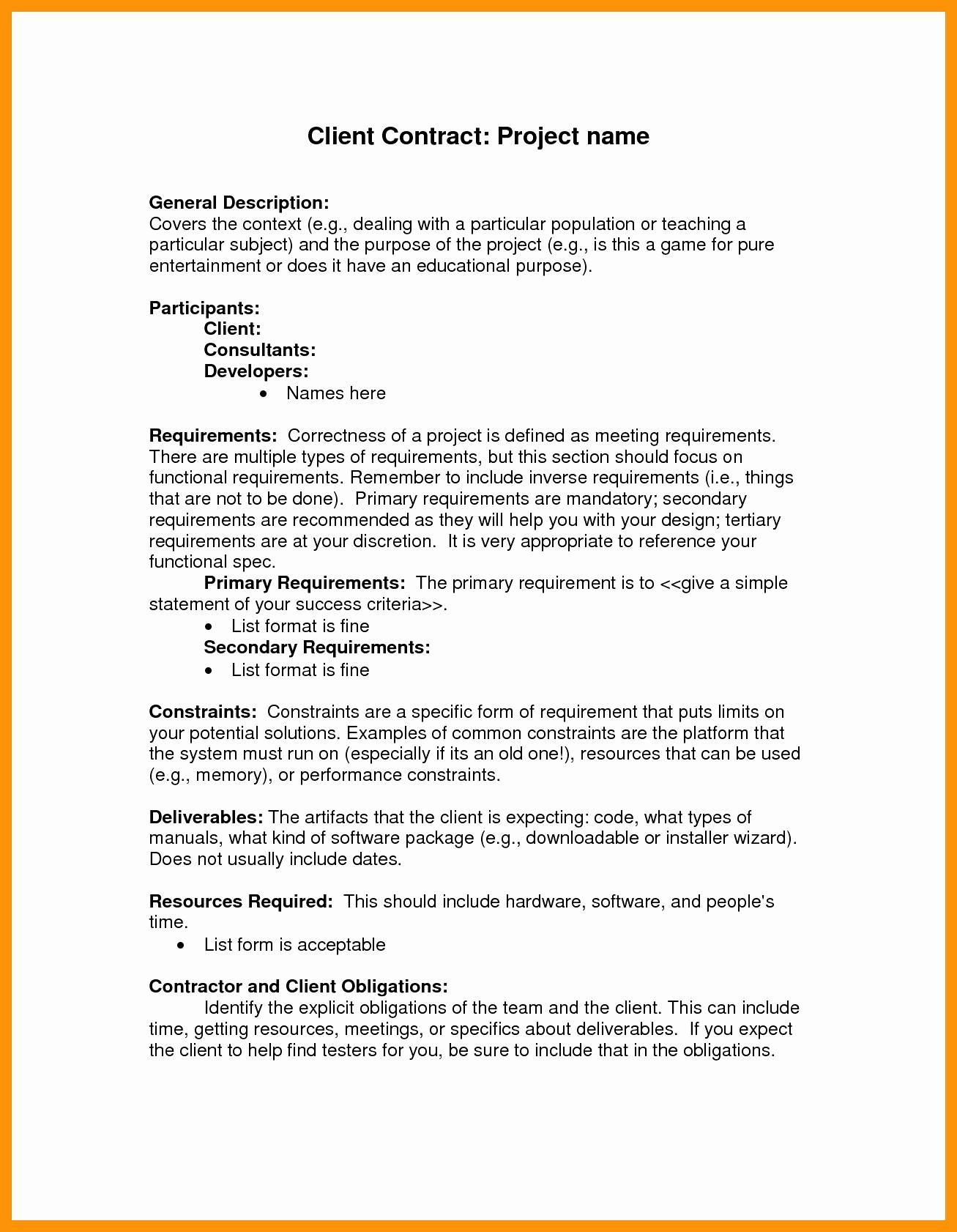 Pr Contract Template