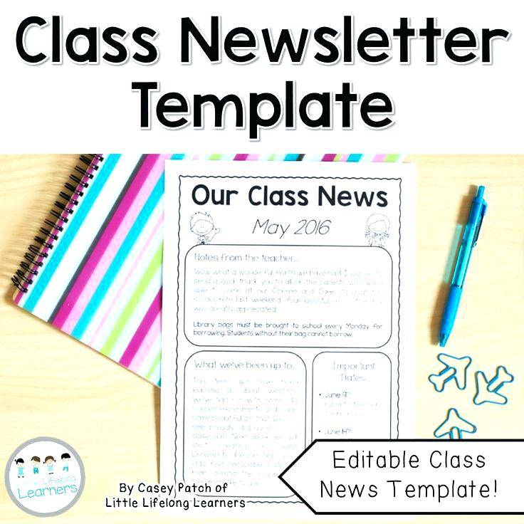 Preschool Classroom Newsletter Templates