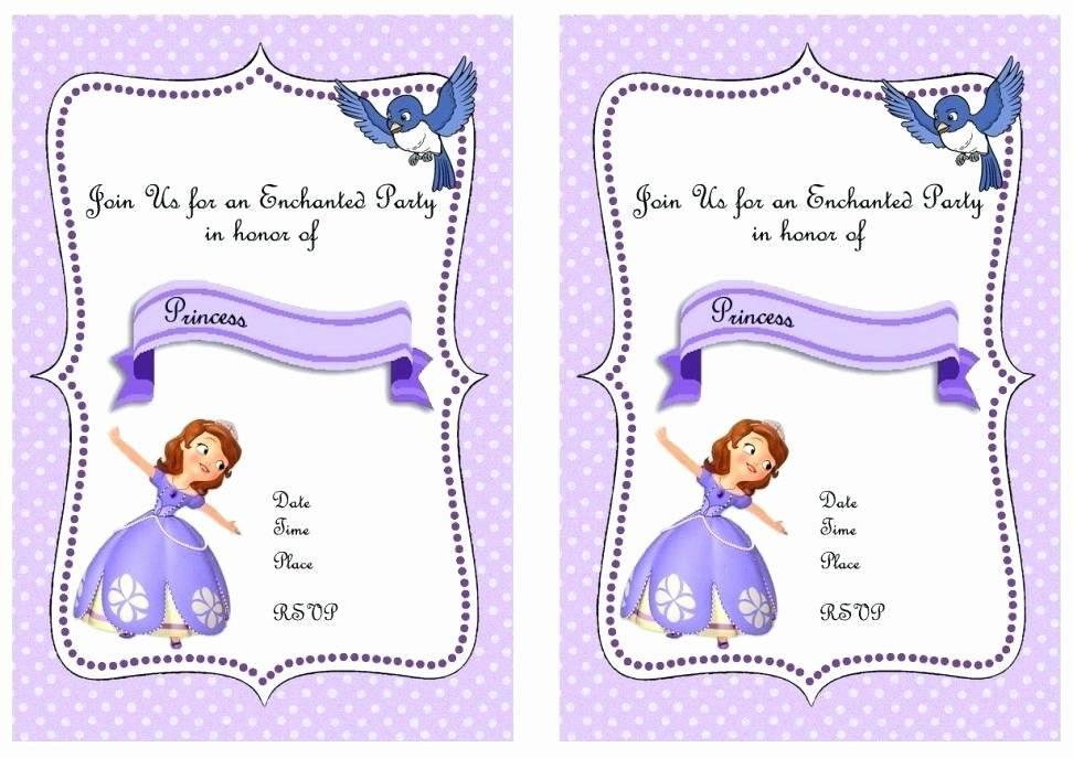 Princess Sofia Invitation Template Free