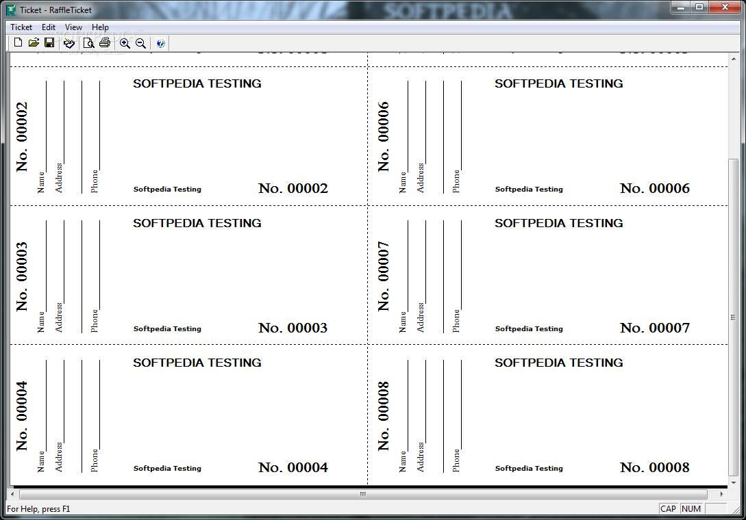 Print Free Raffle Ticket Templates