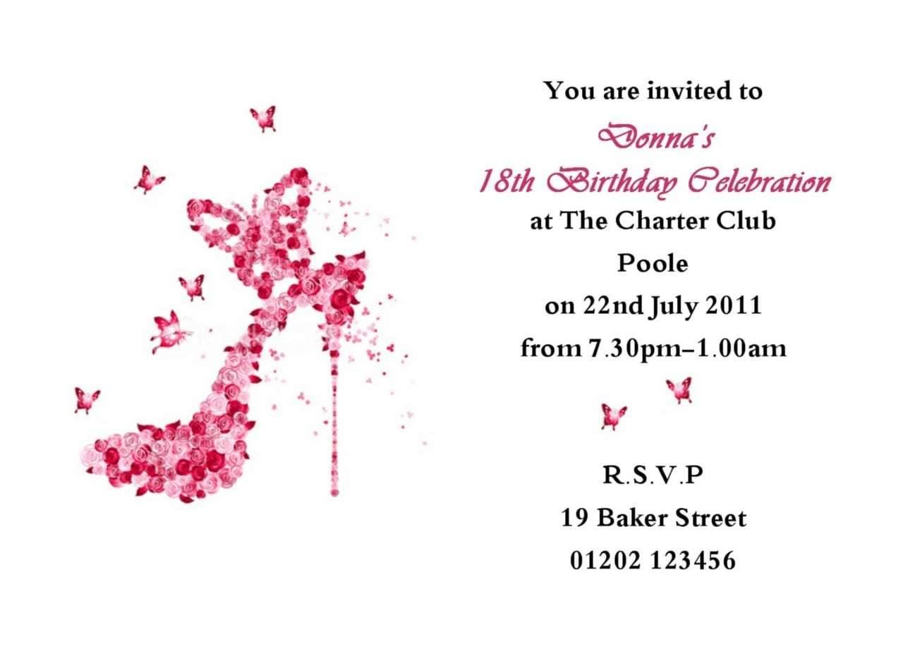 Printable 18th Birthday Invitations Templates