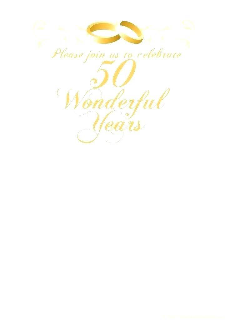 Printable Anniversary Invitations Templates
