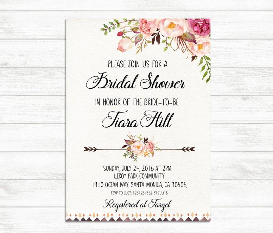 Printable Bridal Shower Invitation Templates Free