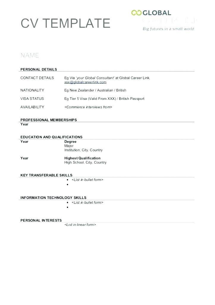 photo relating to Printable Pipe Saddle Template called Printable Cv Template British isles - Templates #124459 Resume Illustrations